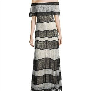 Alice & Olivia Anika Off the Shoulder maxi gown